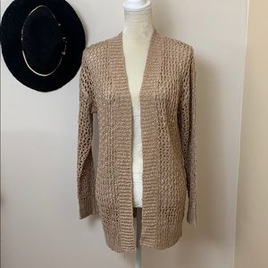 trendy • open knit cardigan